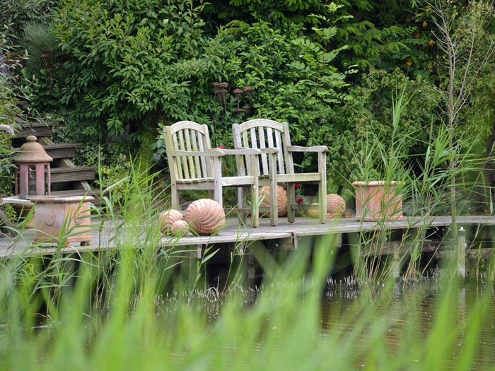 Coin détente au jardin