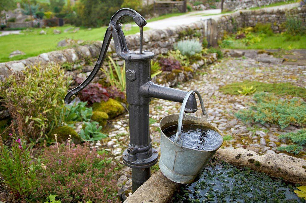 fontaine à pompe
