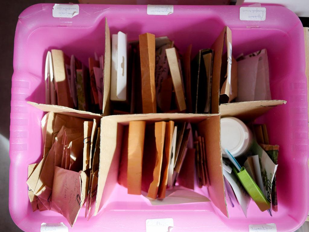 Stockage des petites quantités en sachets