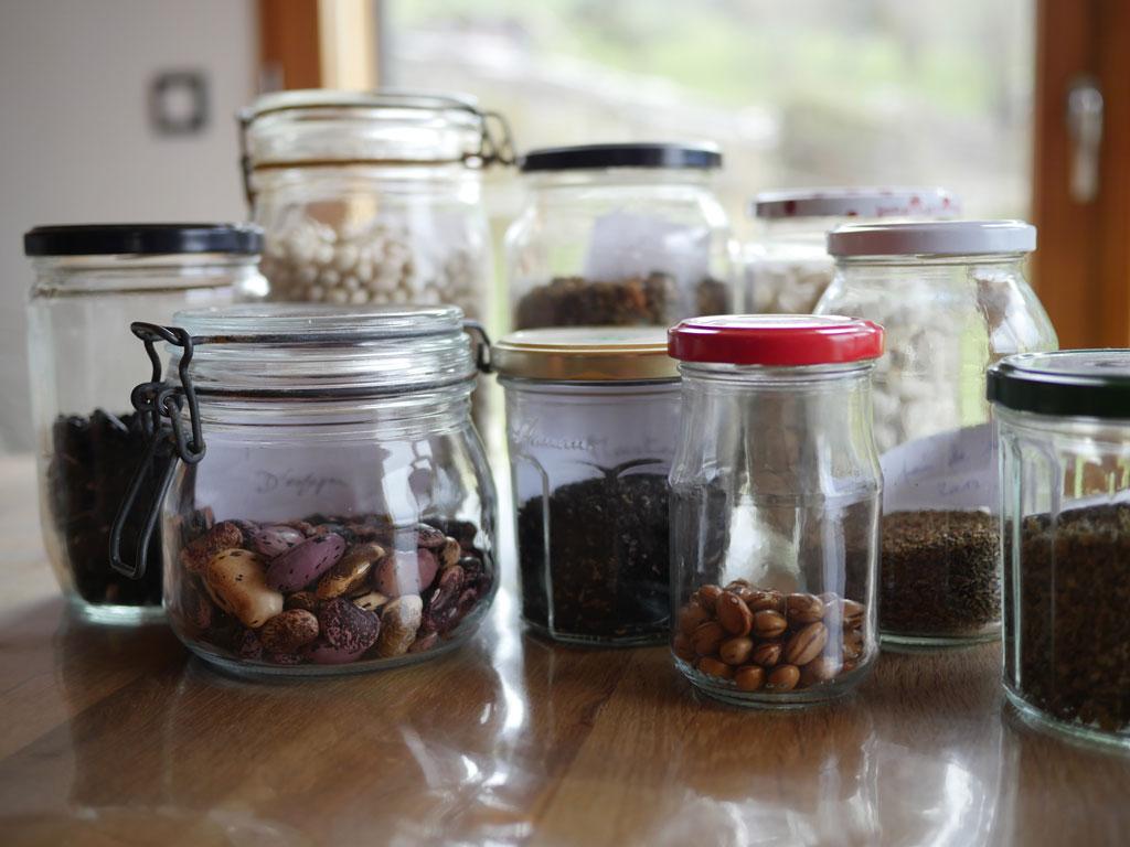 Stock de graines potagères